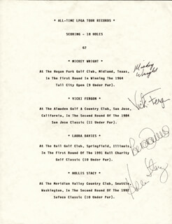 MICKEY (MARY K.) WRIGHT - TYPESCRIPT SIGNED CO-SIGNED BY: LAURA JANE DAVIES, HOLLIS STACY, VICKI FERGON
