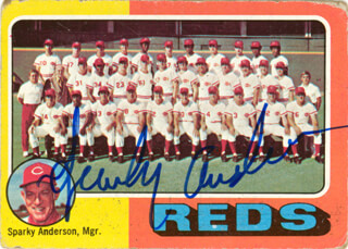 Autographs: SPARKY ANDERSON - TRADING/SPORTS CARD SIGNED