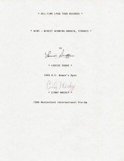 LOUISE SUGGS - TYPESCRIPT SIGNED CO-SIGNED BY: CINDY MACKEY