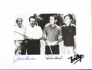 BOB HOPE - AUTOGRAPHED SIGNED PHOTOGRAPH CO-SIGNED BY: DOW FINSTERWALD, JACK BURKE JR.