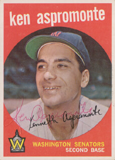 KEN ASPROMONTE - TRADING/SPORTS CARD SIGNED