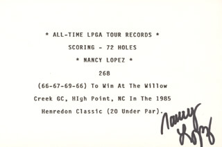 Autographs: NANCY LOPEZ - TYPESCRIPT SIGNED
