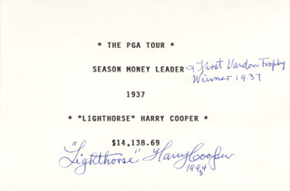 HARRY LIGHTHORSE COOPER - TYPESCRIPT SIGNED