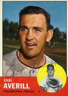 EARL AVERILL JR. - TRADING/SPORTS CARD SIGNED
