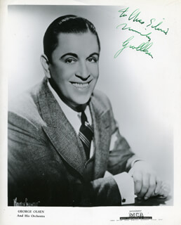 GEORGE OLSEN - AUTOGRAPHED INSCRIBED PHOTOGRAPH