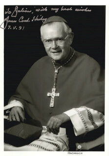 JAMES CARDINAL HICKEY - AUTOGRAPHED INSCRIBED PHOTOGRAPH