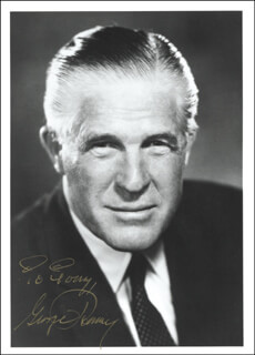 Autographs: GEORGE W. ROMNEY - INSCRIBED PHOTOGRAPH SIGNED