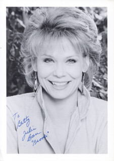 JULIA BARR - AUTOGRAPHED INSCRIBED PHOTOGRAPH