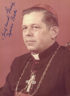 Autographs: JOZEF CARDINAL GLEMP - PHOTOGRAPH SIGNED