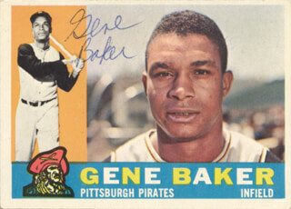 Autographs: GENE BAKER - TRADING/SPORTS CARD SIGNED