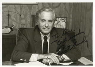 CURT GOWDY - AUTOGRAPHED INSCRIBED PHOTOGRAPH