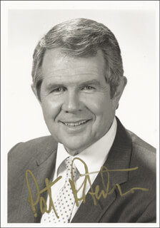 PAT ROBERTSON - AUTOGRAPHED SIGNED PHOTOGRAPH
