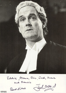 JOHN CLEESE - AUTOGRAPHED INSCRIBED PHOTOGRAPH