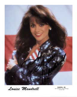 LOUISE MANDRELL - AUTOGRAPH SENTIMENT ON PRINTED PHOTOGRAPH SIGNED