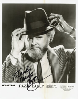 RAZZY BAILEY - INSCRIBED PRINTED PHOTOGRAPH SIGNED IN INK