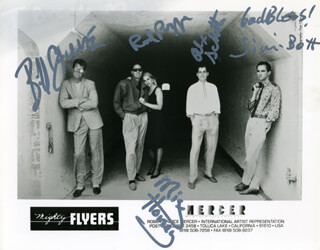 ROD PIAZZA & THE MIGHTY FLYERS - AUTOGRAPHED SIGNED PHOTOGRAPH CO-SIGNED BY: ROD PIAZZA & THE MIGHTY FLYERS (JIMI BOTT), ROD PIAZZA & THE MIGHTY FLYERS (HONEY PIAZZA), ROD PIAZZA & THE MIGHTY FLYERS (ALEX SCHULTZ), ROD PIAZZA & THE MIGHTY FLYERS (BILL STUVE), ROD PIAZZA & THE MIGHTY FLYERS (ROD PIAZZA)