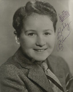 BOBBY BREEN - AUTOGRAPH MUSICAL QUOTATION ON PHOTO SIGNED