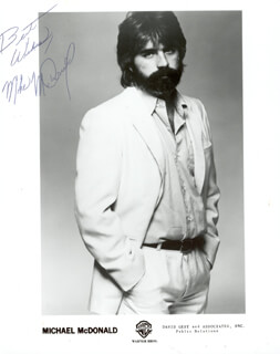 MICHAEL McDONALD - PRINTED PHOTOGRAPH SIGNED IN INK