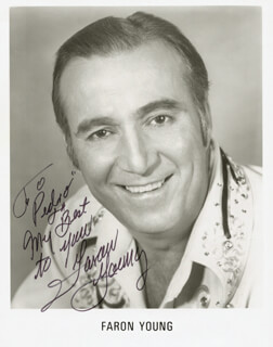 FARON THE SHERIFF YOUNG - AUTOGRAPHED INSCRIBED PHOTOGRAPH