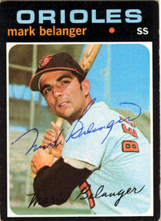 MARK BELANGER - TRADING/SPORTS CARD SIGNED