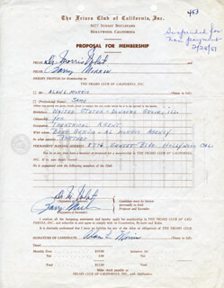 ALAN L. MORRIS - DOCUMENT SIGNED CO-SIGNED BY: BARRY MIRKIN, MORRIS VOLAT