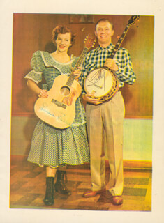 LULU BELLE AND SCOTTY - AUTOGRAPHED SIGNED PHOTOGRAPH CO-SIGNED BY: LULU BELLE AND SCOTTY (SCOTTY WISEMAN) , LULU BELLE AND SCOTTY (LULU BELLE WISEMAN)