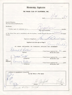 LEWIS R. CHUDD - APPLICATION DOUBLE SIGNED 01/04/1962