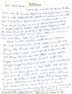 WALLY WEST - AUTOGRAPH LETTER SIGNED