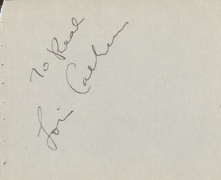 LOUIS CALHERN - INSCRIBED SIGNATURE