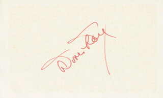 DORIS DAY - AUTOGRAPH