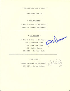 ART DONOVAN - TYPESCRIPT SIGNED CO-SIGNED BY: BOB LILLY