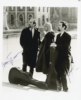 PETER, PAUL & MARY - AUTOGRAPHED SIGNED PHOTOGRAPH CO-SIGNED BY: PETER, PAUL & MARY (PAUL STOOKEY), PETER, PAUL & MARY (MARY TRAVERS)