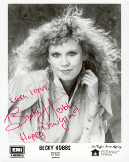 BECKY HOBBS - AUTOGRAPHED SIGNED PHOTOGRAPH