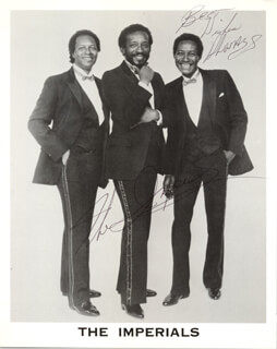 THE IMPERIALS - PRINTED PHOTOGRAPH SIGNED IN INK
