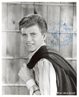 BOBBY RYDELL - AUTOGRAPHED INSCRIBED PHOTOGRAPH
