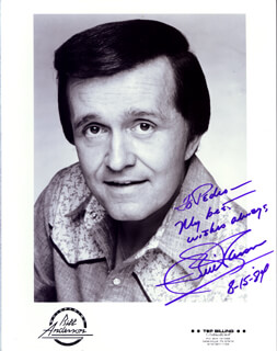BILL WHISPERING BILL ANDERSON - AUTOGRAPHED INSCRIBED PHOTOGRAPH 08/15/1984