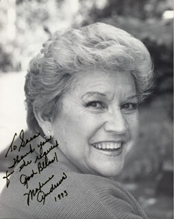 Autographs: MAXENE ANDREWS - INSCRIBED PHOTOGRAPH SIGNED 1993