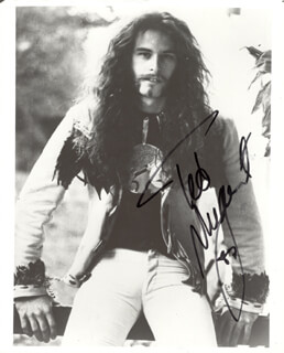 TED NUGENT - AUTOGRAPHED SIGNED PHOTOGRAPH 1987