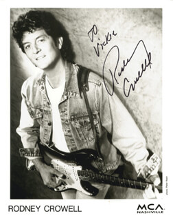 RODNEY CROWELL - AUTOGRAPHED INSCRIBED PHOTOGRAPH