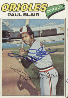PAUL BLAIR - TRADING/SPORTS CARD SIGNED