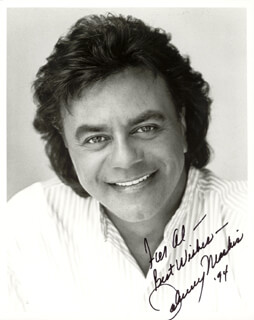 JOHNNY MATHIS - AUTOGRAPHED INSCRIBED PHOTOGRAPH 1994