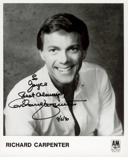 RICHARD CARPENTER - AUTOGRAPHED INSCRIBED PHOTOGRAPH 09/06/1990