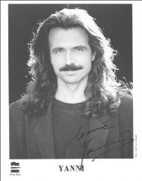 YANNI - PRINTED PHOTOGRAPH SIGNED IN INK