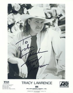 TRACY LAWRENCE - AUTOGRAPHED SIGNED PHOTOGRAPH