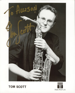 TOM SCOTT - AUTOGRAPHED INSCRIBED PHOTOGRAPH