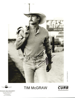 TIM McGRAW - AUTOGRAPHED INSCRIBED PHOTOGRAPH 1995