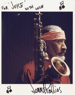 SONNY ROLLINS - AUTOGRAPHED INSCRIBED PHOTOGRAPH