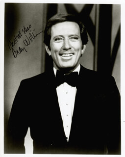 ANDY WILLIAMS - AUTOGRAPHED SIGNED PHOTOGRAPH