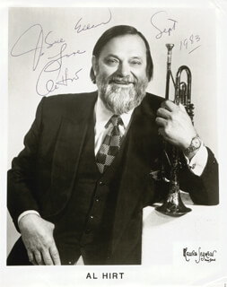 AL HIRT - AUTOGRAPHED INSCRIBED PHOTOGRAPH 1983