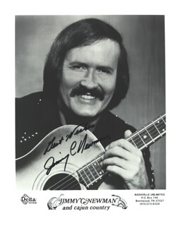 JIMMY C. NEWMAN - AUTOGRAPHED SIGNED PHOTOGRAPH
